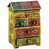 Aapno Rajasthan House Design Miniature Chest Of Drawers (30.48 Cm X 20.32 Cm)