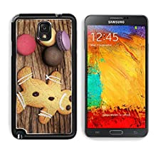 buy Msd Samsung Galaxy Note 3 Aluminum Plate Bumper Snap Case Macaron And Ginger Bread On The Wood Background Image 24843185