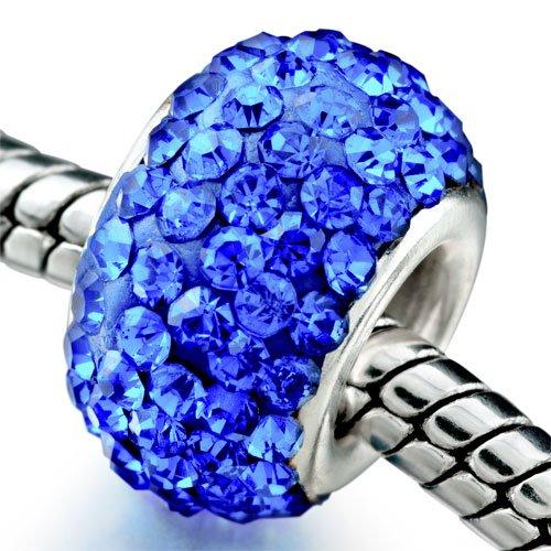 Pugster September Swavorski Crystal Birthstone Bead Fits Pandora Charm Bracelet