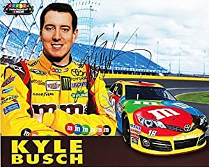 Buy 2013 Kyle Busch #18 M&M's Racing Team (Gibbs) NASCAR 8X10 Hero Card *AUTOGRAPHED* by Trackside Autographs