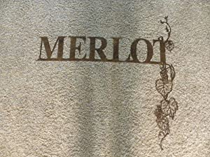 Merlot Wine Grapes and Words Metal Wall Art Home Decor