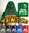 HotScamp Premium Ask Me About My T-Rex T-shirt - Dinosaur Flip Tee Mens T-Shirt Many Colours All Sizes S M L XL XXL (Medium, Green)