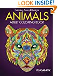 Animals: Adult Coloring Book: Calming...