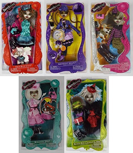 Bratz Bratzillaz 5 X Fashion Pack - Romantic Spell, Blood Red Charm, Changed-Up Chic, Midnight Magic, True Blue Style by Zapf (True Blood Pack compare prices)