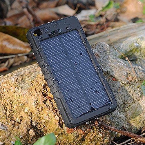 [Special design for outdoor/with flashlight] VicTec Sun Panel Cellular Charger Energy Financial institution Batteries Pack 8000mAh Water-proof/Filth/Shockproof Moveable Spare Charger Exterior Energy Charger for iPhone 6 6 Plus 5S 5C five 4S four iPods Samsung Galaxy S5 S4 S3 S2 Notice three Word 2 and different Sensible Telephones