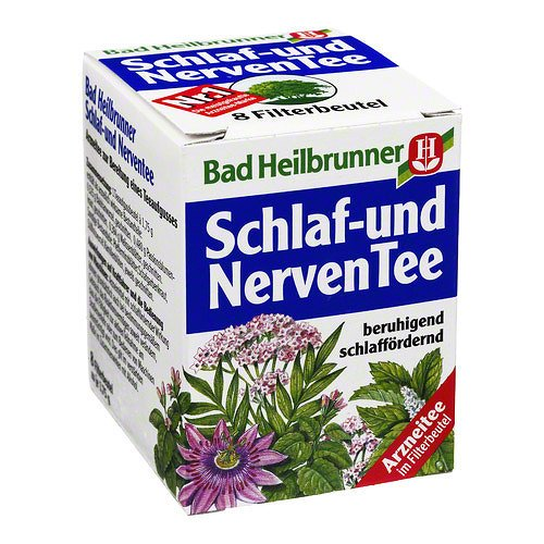 Bad Heilbrunner Schlaf Und Nerven Tea / Sleeping And Nerv (4 Packs Each 8 Teabags) - Fresh From Germany