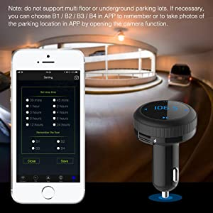 Bluetooth FM Transmitter with Smart Locator,Bligli Car Charger Car Kit with 3.4A USB Charging Ports,Built-in Mic,Supports Hands-Free Call, Last Call Redial,32G TF Card/U-Disk Music Playback (Color: Black02)