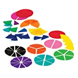 ETA hand2mind Plastic, Rainbow, Fraction Circles, Bulk Math Manipulative Kit for the Classroom (15 Sets of 51 Tiles)