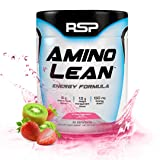 RSP AminoLean - All-in-One Pre Workout, Amino Energy, Weight Loss Supplement with Amino Acids, Complete Preworkout Energy & Natural Fat Burner for Men & Women, Strawberry Kiwi, 30 Servings