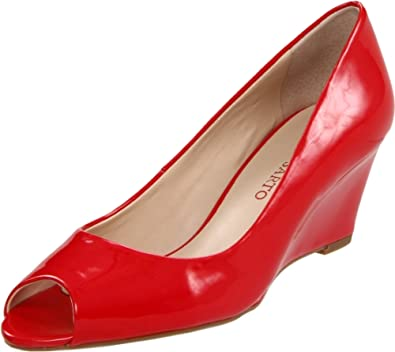 Franco Sarto Women's Vaya Wedge Pump,Crimson,7 M US
