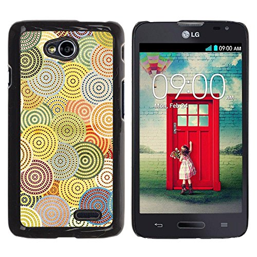 Be Good Phone Accessory // Hard Shell Protective Cover Case for LG Optimus L70 / LS620 / D325 / MS323 // Abstract Crocheted Pattern Hypnotic
