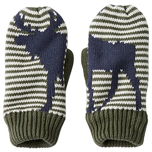 Hanna Andersson Little Girl Fleece Lined Critter Mittens, Size M (5-8 Years), Navy
