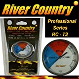 2&quot; River Country Professional Series Adjustable Grill & Smoker Thermostat Thermometer Gauge