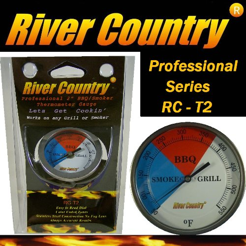 Lowest Prices! 2 River Country Professional Series Adjustable Grill & Smoker Thermostat Thermometer...