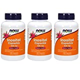 NOW  Inositol 500mg,100 Capsules (Pack of 3) (Tamaño: 3)