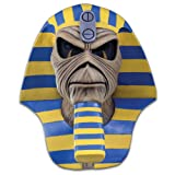 Loftus International Iron Maiden Powerslave Cover Full Head Mask Beige Blue Yellow One-Size Novelty Item (Color: Beige/Blue/Yellow, Tamaño: One-Size)