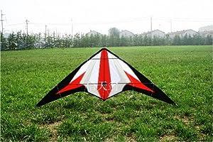 Sport Stunt Kite 5.9 Feet/1.8 Meter Dual Line Control - Red Sword