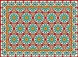 MatArt - Decorative vinyl floor mat for kitchen / front door / bedroom, JAIPUR design