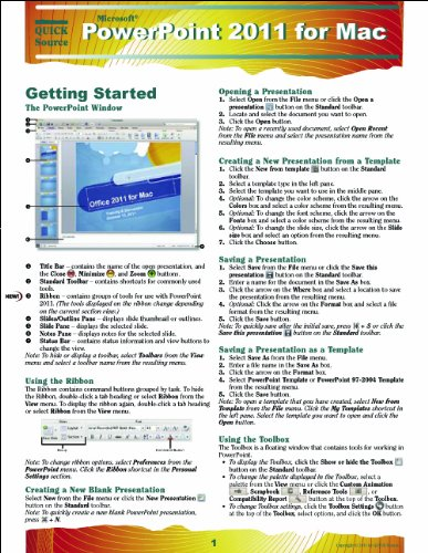 PowerPoint 2011 for Mac Quick Source Guide