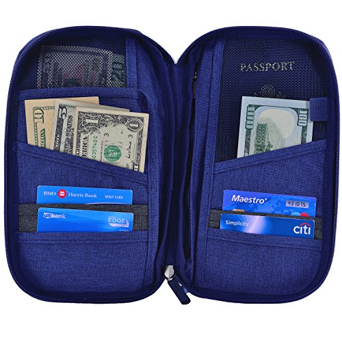 Hopsooken-Travel-Wallet-Passport-Holder-Organizer-Rfid-Blocking-ID-Card-Pouch