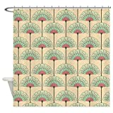 CafePress Shower Curtain - Vintage Art Deco Abstract Shower Curtain - White