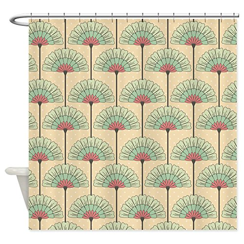 CafePress - Vintage Art Deco Abstract Shower Curtain - Decorative Fabric Shower Curtain (Art Deco Shower Curtain compare prices)
