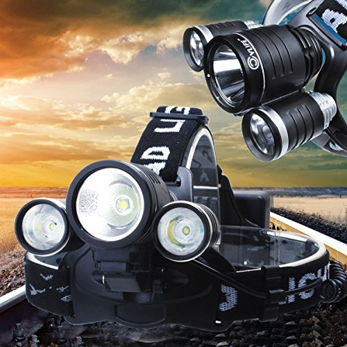 Cvlife 3000Lm Cree Xm-L 3X T6 Led Rechargeable Bicycle Headlamp Headlight Lamp 4 Modes With 18650 Batteries For Hiking Camping Hunting Riding