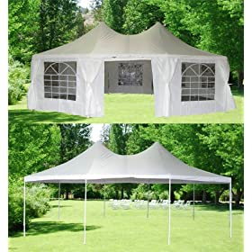 New 29' X 21' Octangle Wedding Party Tent Gazebo Canopy Heavy Duty Waterproof
