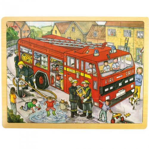 Bigjigs Toys BJ742 Tray Puzzle Fire Engine