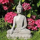 Buddha Statue 40 cm Sitzend Buddhafigur Zen Deko-Figur für Garten