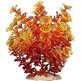 FACILLA® Plante Artificielle Aquatique en Plastique Orange Déco pour Aquarium
