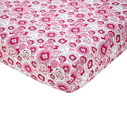 NoJo Butterfly Bouquet Crib Sheet