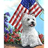 West Highland White Terrier USA Garden 