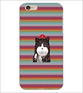 PrintDhaba Kitty D-3310 Back Case Cover for APPLE IPHONE 6 (Multi-Coloured)