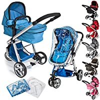 TecTake 3 in 1 Pushchair stroller combi stroller buggy baby jogger travel buggy kid's stroller -different colours- by TecTake