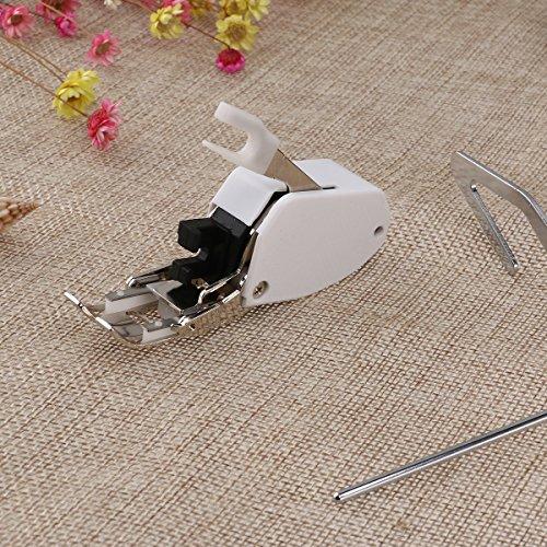 white sewing machine walking foot