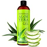Organic Aloe Vera Gel - Big 12 oz - NO XANTHAN, so it Absorbs Rapidly with No Sticky Residue - made from REAL JUICE, NOT POWDER (Tamaño: Big 12 oz)