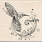 Hummingbird Wood Stamp