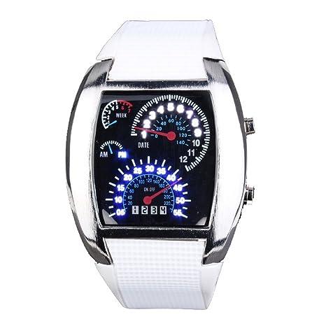 Yesurprise-Fashion-Silicone-Rubber-Band-Blue-Binary-DOT-Unisex-LED-Wrist-Watch-White