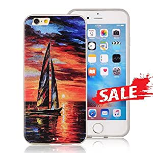 iphone 6/6S case,COSANO Premium 3D Print [Scratch-resistant] Hard PC Back Cover+Shock Absorbing Soft Bumper Protective Case for 4.7 inches iPhone 6/6s(Sail Boat)