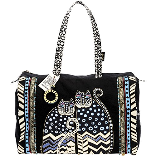 Laurel Burch Travel Bag with Zipper Top, Spotted Cats