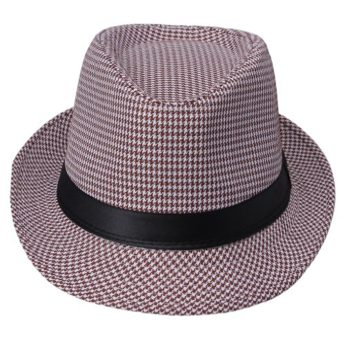 Smile YKK Women's Gangster Fedora Panama Cowboy Hat Jazz Fishbone
