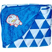 Fancyadda Baby Wrapper For New Born With Hood - Blue Color