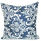 Majestic Home Goods French Quarter Pillow, Large, Navy Blue