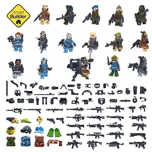 Set-of-16-Military-Figures-special-forces-with-military-accessories