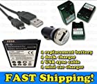 Samsung Galaxy S3 - Battery + Wall Travel External Dock Battery Charger + Universal USB Car Charger + USB Data Sync Cable