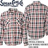 Sugar Cane(シュガーケーン)TWILL CHECK L/S WORK SHIRT SC25934-165 Red