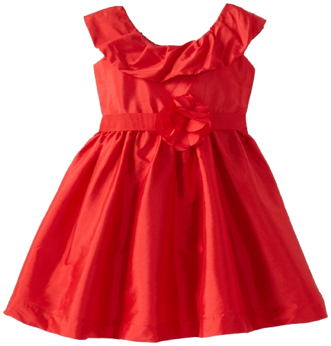 Us Angels Baby-Girls Infant Tank Dress With Pleated Collar, Red, 18 Months front-44813