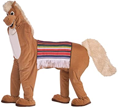 Forum Novelties Men's Horse Mascot 2 Costume Funny Comical Animal Pony Halloween
