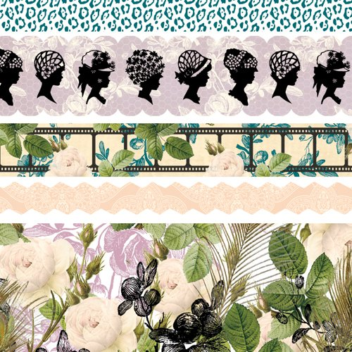 Websters Pages Hollywood Vogue Collection Fabric Ribbons